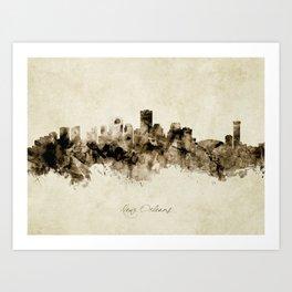 New Orleans Louisiana Skyline Art Print
