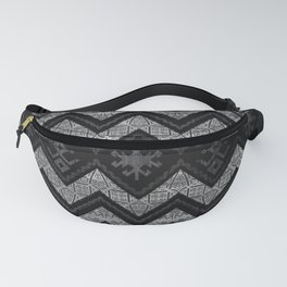 Tribal  Ethnic Boho Pattern Wooden Texture Fanny Pack