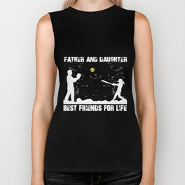 father and daughter best friend for life dad Biker Tank