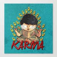 karma Canvas Prints featuring Karma by Seez