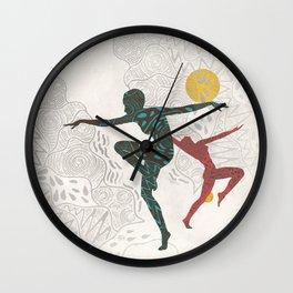 Ethnic Aboriginal Summer Dancer Wall Clock