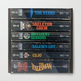Stephen King Well-Worn Paperbacks Metal Print