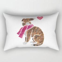 Watercolour Borzoi Rectangular Pillow