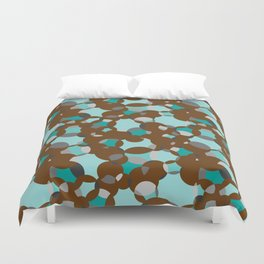 Circle-fiesta bluegreen-braun Duvet Cover