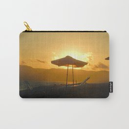 Sun behind an umbrella spreading the light Carry-All Pouch