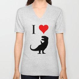 I Love Dinosaurs - T-Rex Unisex V-Neck