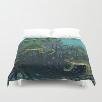 frog Duvet Covers featuring frog by giancarlo lunardon