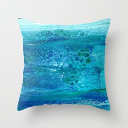 Colors of the Sea No.1 Throw Pillow