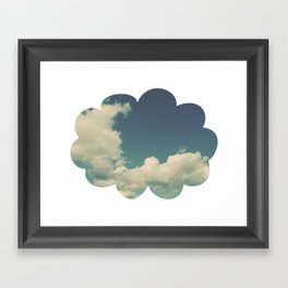 Puffy Cloud Framed Art Print