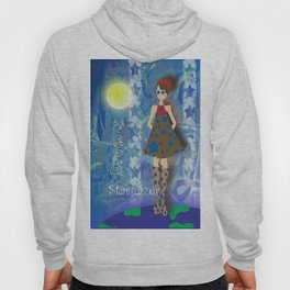 Girl on Top of the World with Starry Eyes Hoody