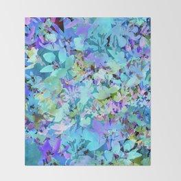 Sky Blue Poppies Throw Blanket