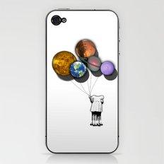 Planet balloon girl iPhone & iPod Skin