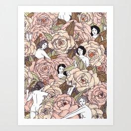 We Belong Amongst the Flowers Art Print