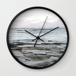 Frozen Maine Ocean Wall Clock