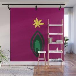 de Flower [fuchsia] Wall Mural