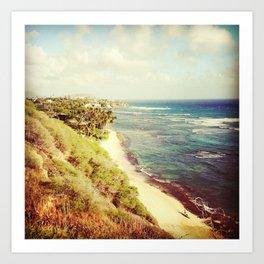 shoreline snapshot Art Print