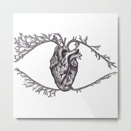 One must look with the heart Metal Print