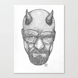 Mr. White? He's the Devil (Raw Colorway) Canvas Print