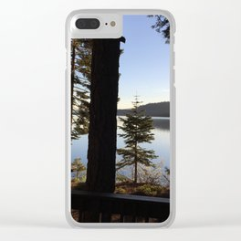 Lake Tahoe cabin view Clear iPhone Case