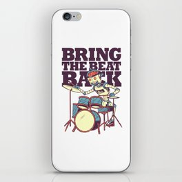 Bring the beat back iPhone Skin