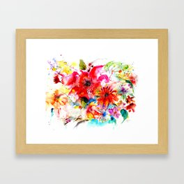 Watercolor garden II Framed Art Print