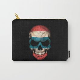 Dark Skull with Flag of Thailand Carry-All Pouch