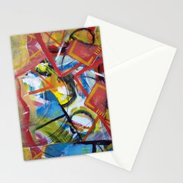 Boundary Line Red Stationery Cards