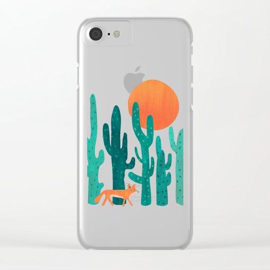 Desert fox Clear iPhone Case