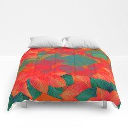 """Intense Pastel Hydrangeas-Passion"" Comforters"