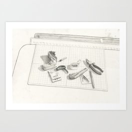 Things on the table Art Print