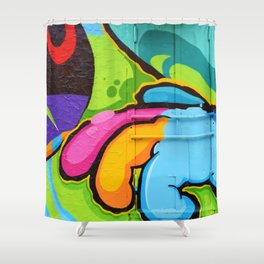 Psychedelic Graffiti (Color) Shower Curtain