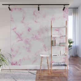 Lovely White and Rose Marble Pattern Wall Mural