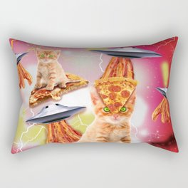 alien cats and the ufos Rectangular Pillow