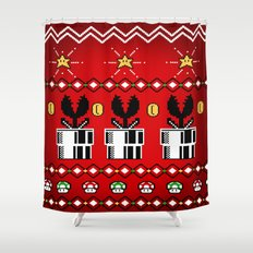 8bitChristmas Shower Curtain
