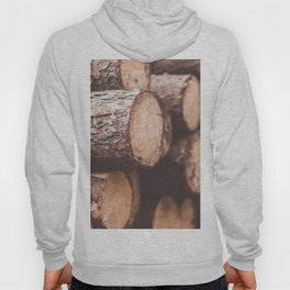 Stack of Felled Trees Close Up Hoody