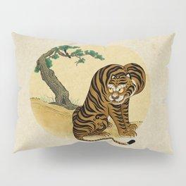 Tiger with magpie type-A : Minhwa-Korean traditional/folk art Pillow Sham