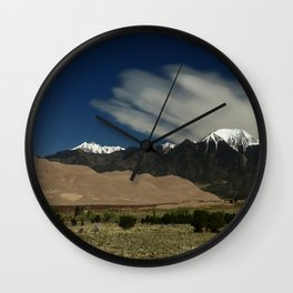 High Mountains and Sand Dunes Wall Clock