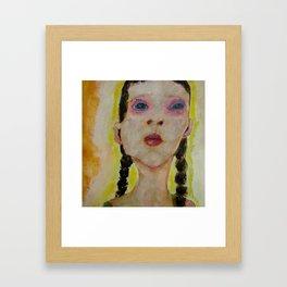 Bad Girl with Braids Framed Art Print