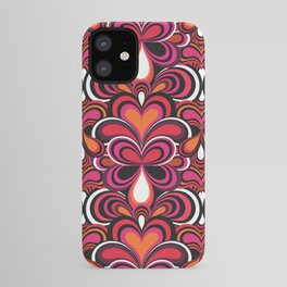 70s Retro Psychedelic pattern Pink iPhone Case