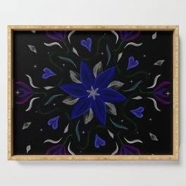 Blue Starflower Serving Tray
