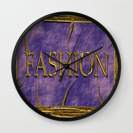 Fashion logo in golden look. Wall Clock