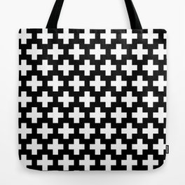 Swiss Cross W&B Tote Bag