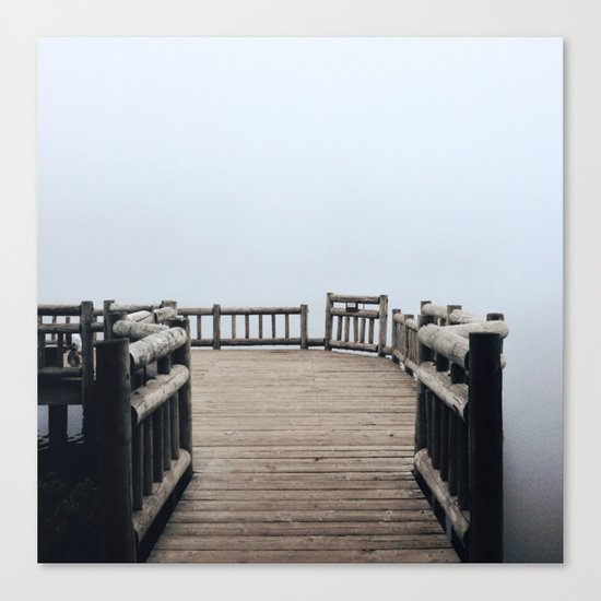 Fog Walk Canvas Print