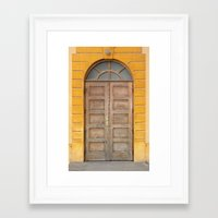 real madrid Framed Art Prints featuring Madrid Door by Diego Tirigall