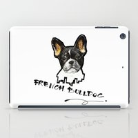 french bulldog iPad Cases featuring French Bulldog by Det Tidkun