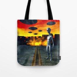 Battlefield Earth - UFO Invasion Tote Bag