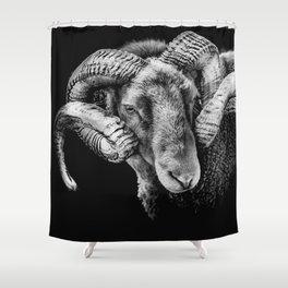 """ Reggie "" the ram Shower Curtain"