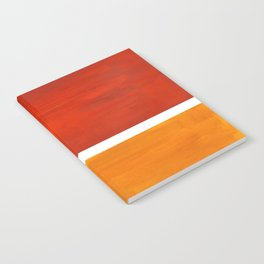 Burnt Orange Yellow Ochre Mid Century Modern Abstract Minimalist Rothko Color Field Squares Notebook