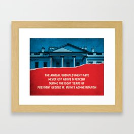 The Unemployment Rate Framed Art Print