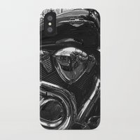 harley iPhone & iPod Cases featuring Harley  by Cozmic Photos